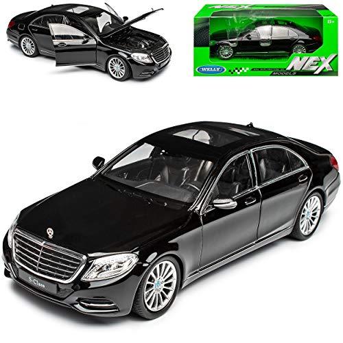 Mercedes-Benz S-Klasse W222 Schwarz Limousine Ab 2013 1/24 Welly Modell Auto