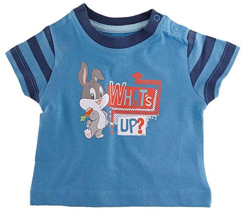 Golden Lutz® Baby Jungen T-Shirt 'What's up?', Kurzarm (blau, Gr. 50/56) | Baby Looney Tunes (TM)