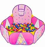 NUBUNI Piscina de Bolas : Piscina Infantil : Piscina Bolas para Parque Infantil : Piscina Bolas Bebe : Parque de Bolas : Mini Canasta Baloncesto Habitación G