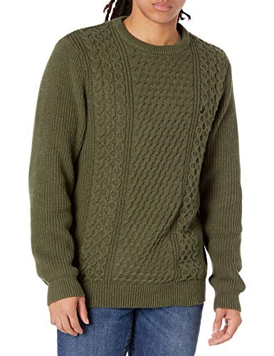 Nautica Men's Classic Fit Novelty Sweater, Forest Night Heather, Medium