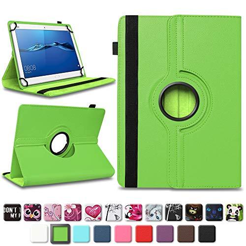 NAmobile Schutzhülle kompatibel für Huawei MediaPad T1 T2 T3 T5 10 Tablet Hülle Tasche Schutzhülle Hülle 360 Drehbar, Farben:Grün