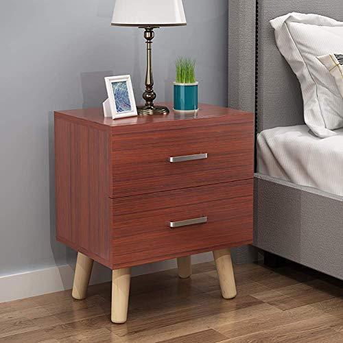 Modernt rektangulärt nattduksbord, träskåp med låda för förvaring, enkel montering Sovrums sidoänd Kaffebord