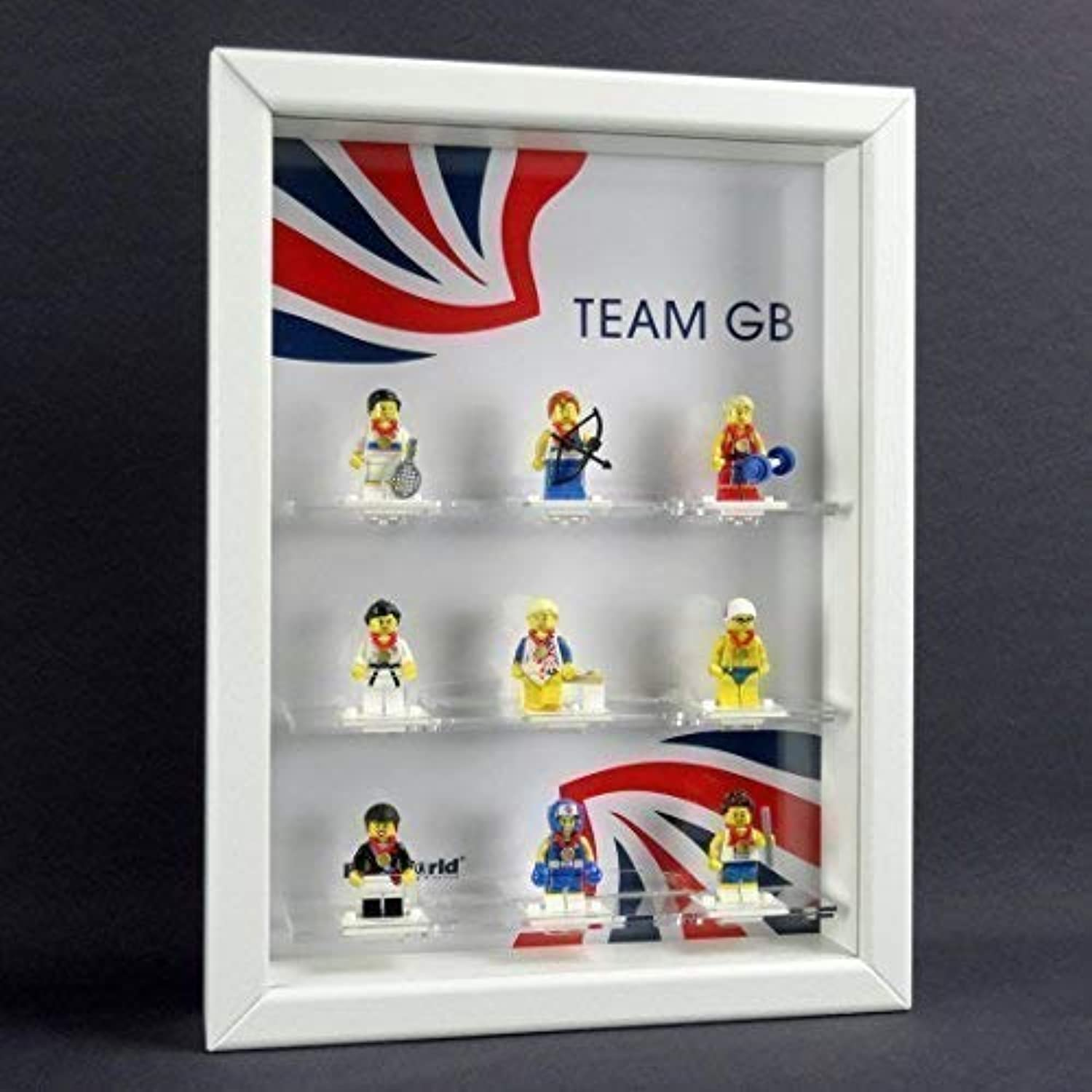 Figucase Collect showcase for LEGO Series TEAM GB UK Olympia 2012