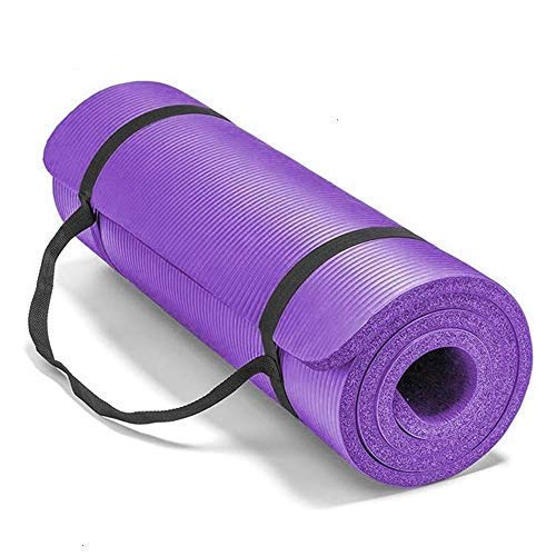 Colchonete, TOPmontain Tapete para Yoga Ginástica em TPE, 183cm x 61cm x 1cm, Tapete de Treino com Alça de Transporte para Homens e Mulheres Yoga Meditação Pilates Aeróbica Ginástica Fitness