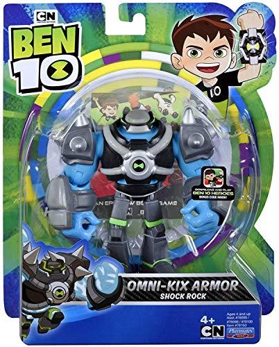 Figuras De Ação Ben 10 - Boneco Armadura Omni - kix Choque Rochoso - Original Sunny