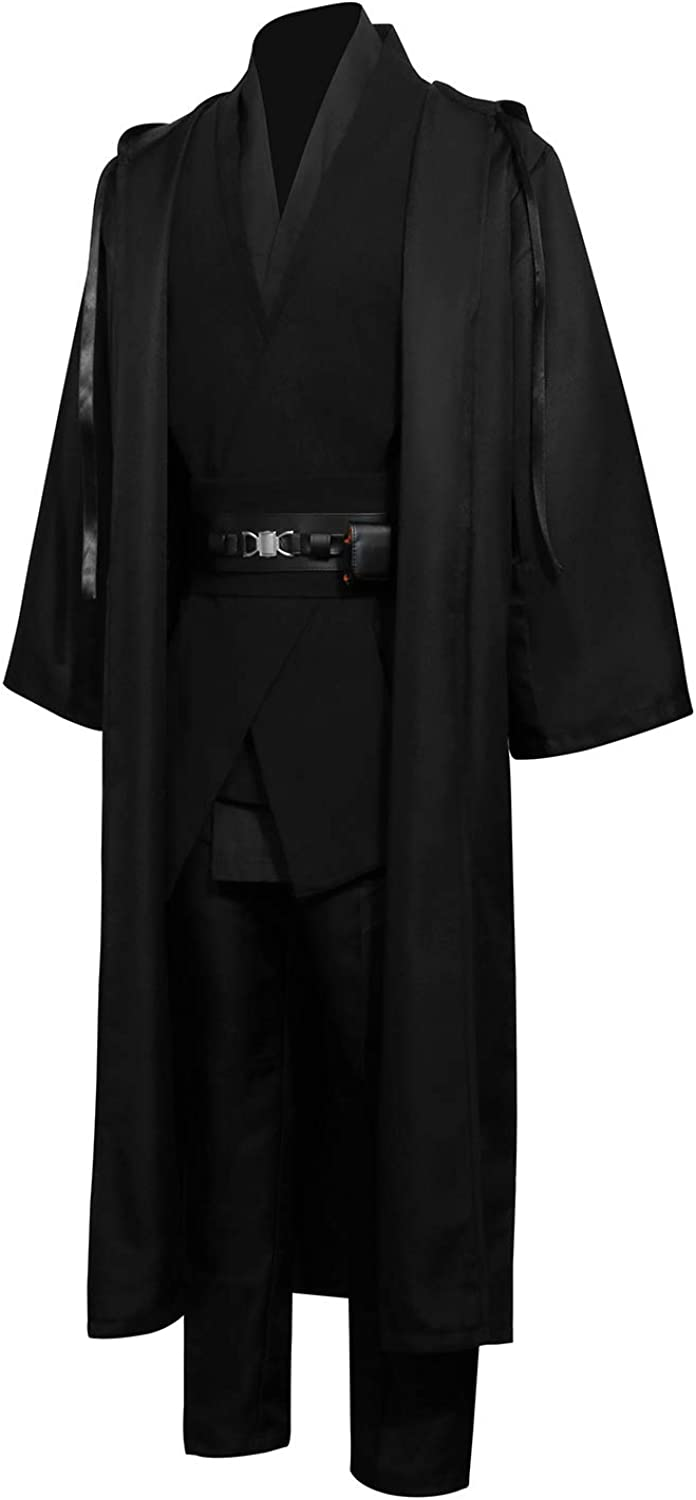 Men Tunic Hooded Robe Cloak Set Fancy Outfit Genuine Max 45% OFF Knight Dress Gothic