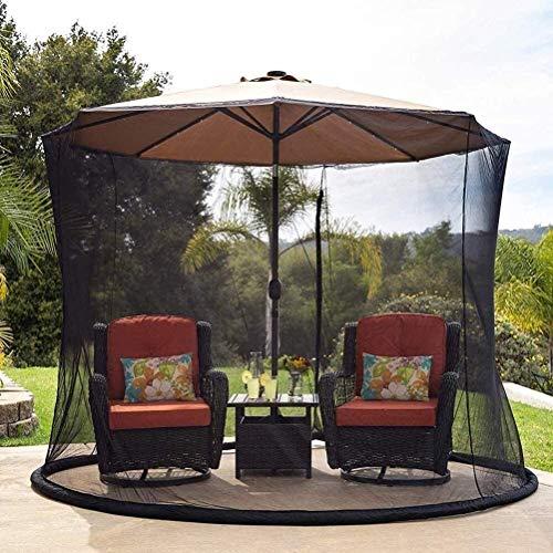 YLJYJ Sombrilla de jardín al Aire Libre Su sombrilla en una glorieta Sombrilla de jardín al Aire Libre Pantalla de Mesa Cubierta de sombrilla Mosquitera (mosquitera)