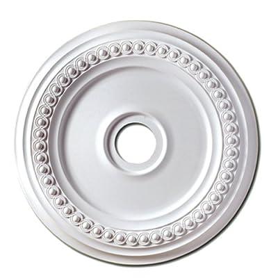 Focal Point Rondel Medallion, Primed White