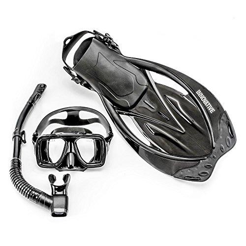 Innovative Scuba Concepts MSF4612 REEF, Adult Snorkel Set, Mask, Fins, Snorkel and Bag
