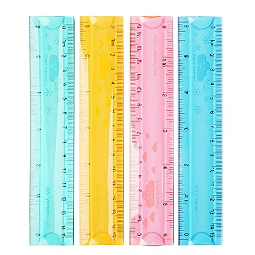 Kentop 15 cm Plástico Regla para estudiantes escuela schreibwaren 1pcs Colores al Azar