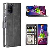 Cresee für Samsung Galaxy M51 Hülle, PU Leder Handyhülle