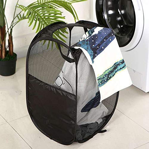 DYT Mesh Pop up Laundry Hamper Collapsible Clothes Hampers Easy to Carry with Portable Handles