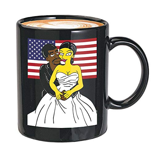 Kanye West Coffee Mug - Kanye West The President And The First Lady Kim Kardashian - Kanye West President Usa 2020 Kim Yeezy Yeezus Fan (11oz,Black)