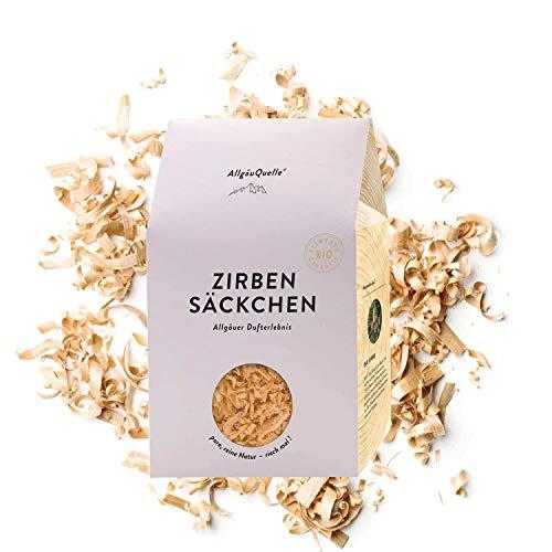 AllgäuQuelle Naturprodukte Bio Zirben-Säckchen mit 100% Bio-Zirbenspäne. Natürliches Bio Duftkissen. Bio Duftsäckchen naturrein und biologisch.
