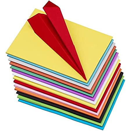 OFIXO 100 pcs Color Sheets (10 Sheets each color ) Copy Printing Papers / Art and Craft paper A4 Sheets Double Sided Colored Origami Folding Lucky Wish Paper DIY Craft Smooth Finish Home, School , Office Stationery