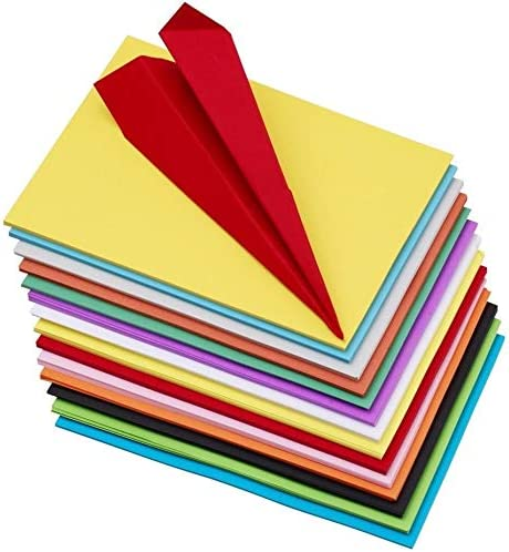 OFIXO 100 pcs Color Sheets (10 Sheets each color ) Copy Printing Papers / Art and Craft paper A4 Sheets Double Sided ...
