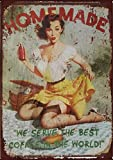 Metallschild mit Aufschrift 'Beautiful Girl Homemade Serve Best Coffee In The World', 30,5 x 20,3 cm