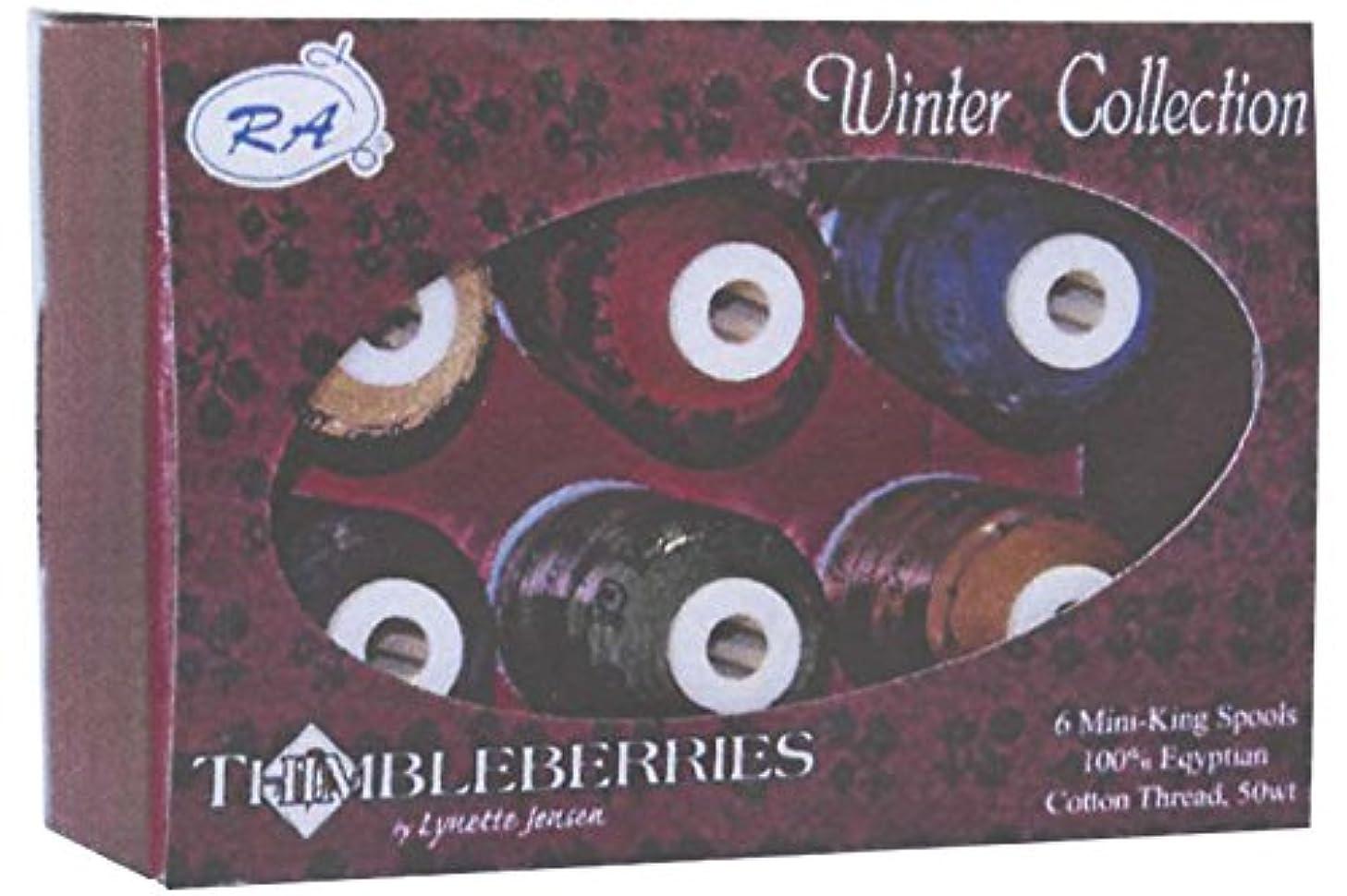 Robison-Anton Thimbleberries 6-Pack Cotton Thread Collection, Winter