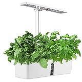 BITOWAT Jardin D'herbes Hydroponique, Kit de Jardin D'herbes D'intérieur 9 Pods avec LED Lampe de Plante avec Minuterie Automatique Potager Hydroponique à Réglable en Hauteur pour Légumes Et Fruits