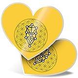 Impresionante pegatinas de corazón de 15 cm – Divertidas calcomanías de tatuaje para portátiles, tabletas, equipaje, libros de chatarra, frigorífico, regalo genial #10587