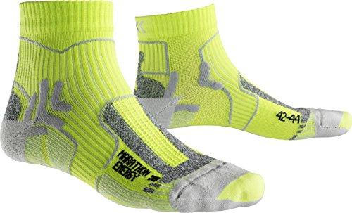 X-Socks Herren Marathon Energy Socken, GreenLime/Pearl Grey, 39/41