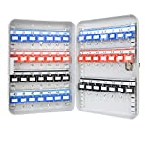 HMF 13049-07 Armoire à clés, Boîte à clés 49 crochets, 32 x 23 x 7,5 cm, gris...