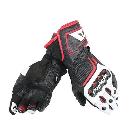 Dainese-CARBON D1 LONG Handschuhe, Schwarz/Weiss/Lava-Rot, Größe XXXL