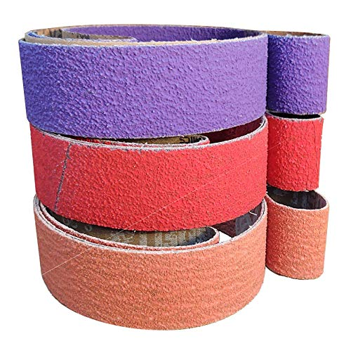 2X72 Coarse Sanding Belt Kit For Knife Makers 3 Pack of 36 grit Premium Quality Coarse Ceramic Belts For Stock Removal Hogging and Grinding (3 Pack Coarse)