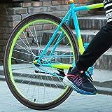 Caredy Neumático para Bicicleta, Accesorio para Bicicleta de montaña, Tubo de Silicona sólido de 700 x 23C 17.7x17.7 en Negro/Azul para Bicicletas de Carretera(700 * 23 Black)