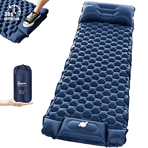 Relefree Esterilla Camping Inflable Ultraligero con Bomba Hinchable Incorporada, Colchón Plegable 6,35 cm de Grosor Impermeable para Viajes y Acampar