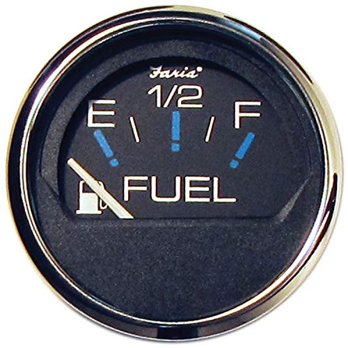 Faria Black 13701 Chesapeake Fuel Gauge
