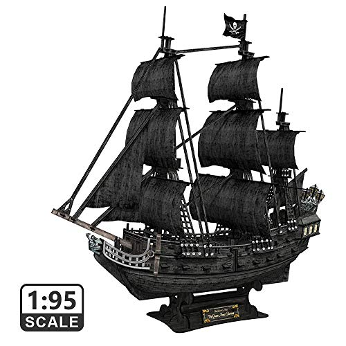 CubicFun 3D Puzzle Piratenschiff Modell Schiffs und Segelboot Schiffsset für Erwachsene, Groß und schwer Queen Anne's Revenge, 308 Stück