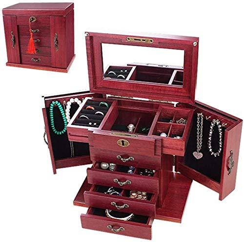 Jewelry Box for Women, Caja de joyería de madera grande - caja...