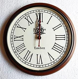 Handicraftgifts Wooden Wall Clock Art Unique Antique Style Luxury Decorative Wood Clock 12 inch
