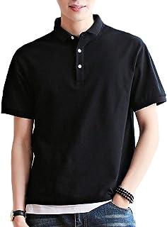 ポロシャツメンズ半袖 ポロシャツ 夏服 トップスメンズ poloシャツ 綿100% 吸汗速乾 カジュアル ゴルフ シャツ 快適 薄手 立っている襟 3釦仕様です 春夏季対応 夏服 メンズ