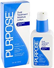 Purpose Dual Treatment Moisture Lotion with SPF 10, 4 Ounce Bottle