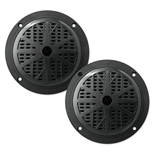 Pyle Marine Lautsprecher (100 Watt, 13,33 cm (5,25 Zoll), 2-Wege) schwarz