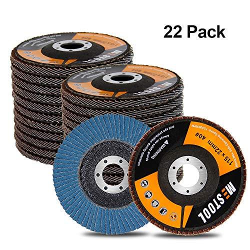 Mestool 22 Pack Flap Disc, 4.5