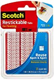 Scotch Onglets repositionnables, 2,5 x 2,5 cm, transparents, 18 onglets (R100)