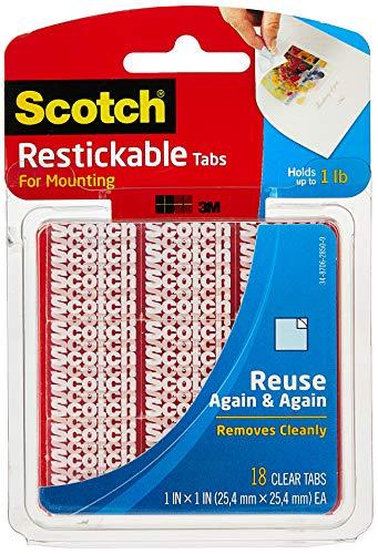 Scotch R100 Lot de 18 onglets repositionnables Transparent 2,5 x 2,5 cm