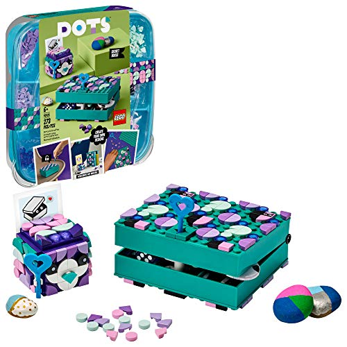 LEGO DOTS Secret Boxes 41925 DIY Craft Decorations Kit; Makes a Creative Gift for Kids Who Want to Make Cool Designs, New 2021 (273 Pieces)