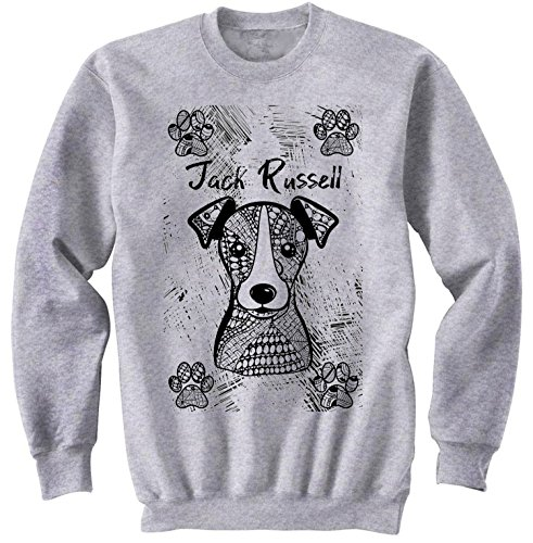 teesquare1st Men's Jack Russell Terrier Grey Sweatshirt Size Medium