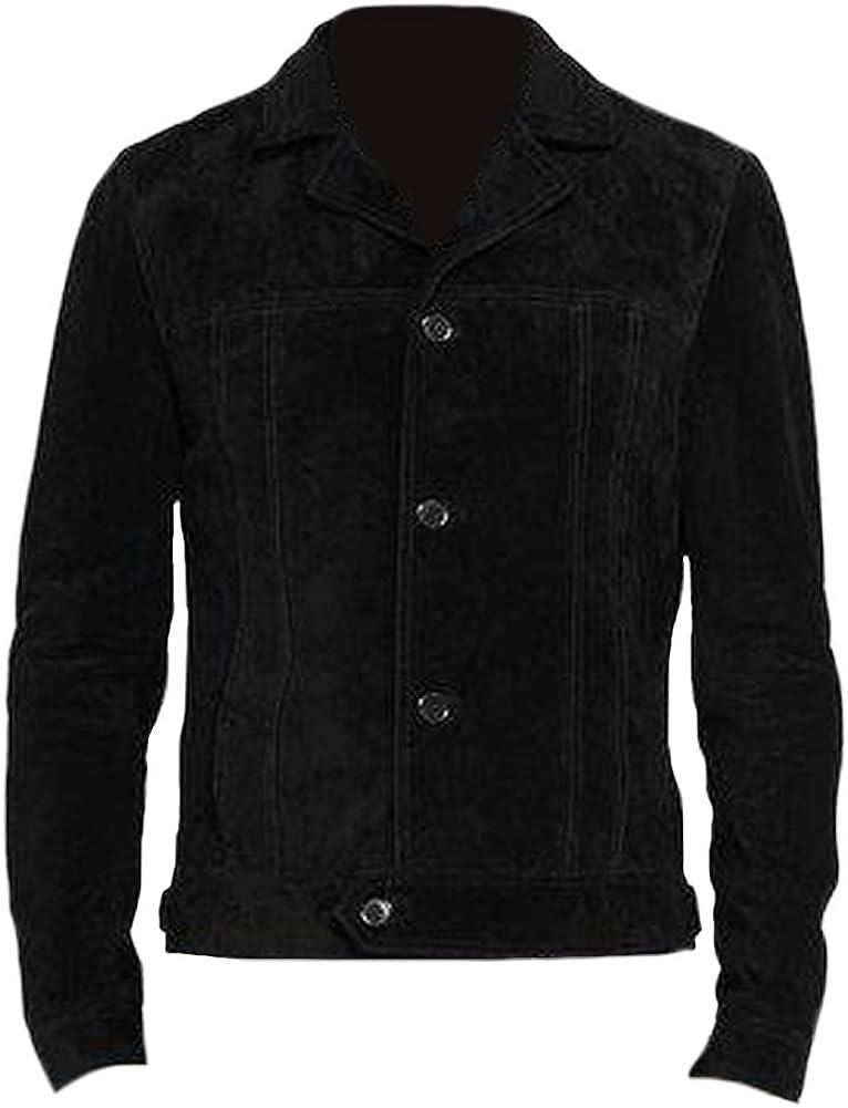 SRHides Men's Fashion Stylish Black Suede Leather Jacket