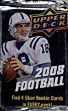 1 (One) Pack - 2008 Upper Deck Football Hobby Pack (20 Cards per Pack) - Possible Matt Ryan, Matt Forte, Chris Johnson, Joe Flacco, DeSean Jackson, Darren Mc... rookie card picture