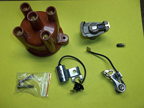 BB Volvo Penta 4 Cylinder Tune Up Kit Points Condenser Rotor Distributor Cap AQ125 AQ131 841263