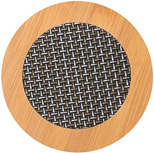 Tekannföretaget Bamboo PVC Weave Placemats Halkfria köksbordsmattor17 cm