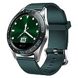 Yumanluo Smartwatch,Sueño de la presión Arterial del Ritmo cardíaco, Pulsera Deportiva multifunción para Hombres y Mujeres, Verde,Reloj Inteligente con Pulsómetro