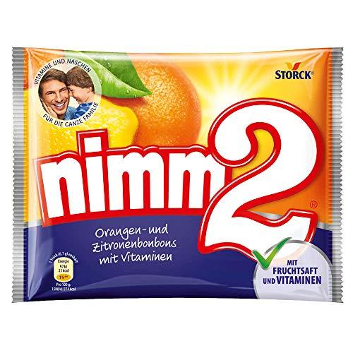 nimm2 – (15 x 145g Beutel) – Kleine Süßigkeiten-Bonbons mit flüssigem Kern aus Fruchtsaft und reichhaltigen Vitaminen für Kinder und Erwachsene