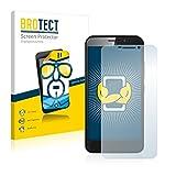 BROTECT Schutzfolie kompatibel mit ZTE Grand S3 (2 Stück) klare Bildschirmschutz-Folie
