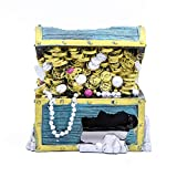 Sprießen Acuario Cofre del Tesoro Ornamento del Acuario de la Resina Acuario Decoraciones para pequeños gambas Pescado Tortuga